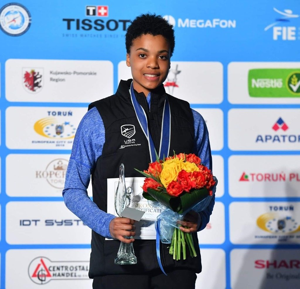 """""""I have dreams of representing the U.S. for the 2024 Olympic Games,"""" Johnson said. (Courtesy Augusto Bizzi/Bizzi Team)"""