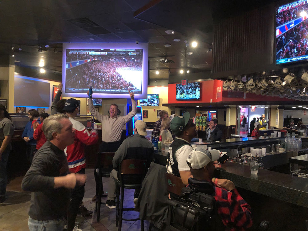 For the last 12 years, the Green Turtle at Capital One Arena has seen fans celebrate and commiserate after games. (WTOP/Mike Murillo)