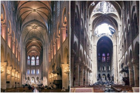 Before and after images of Notre Dame reveal what was lost