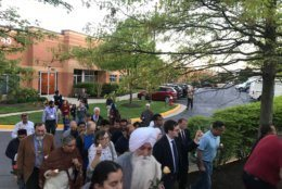 Members of Christian, Muslim, Jews, Sikh and Hindu faiths attended the gathering Monday evening. (WTOP/Dick Uliano)