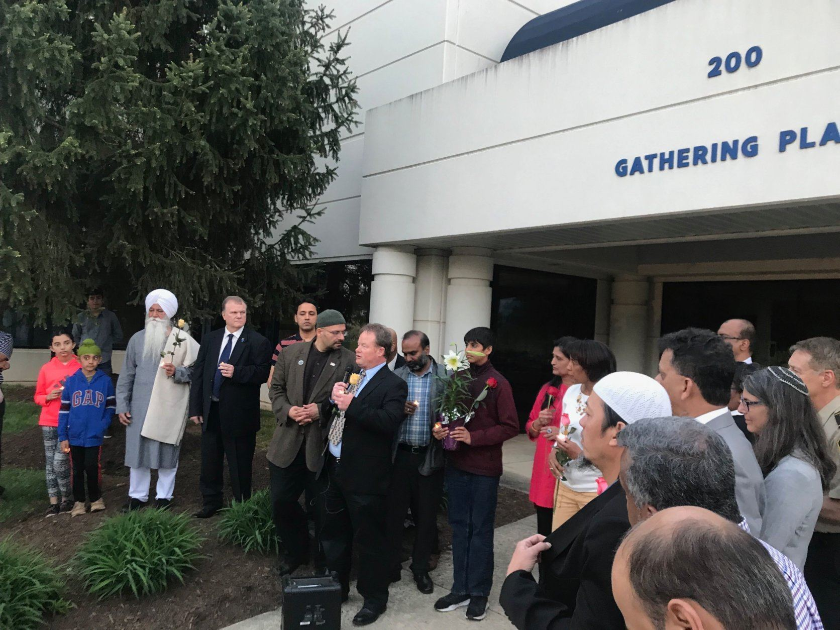 """Our thoughts, our prayers are with the Sri Lanka community, the Christian community and all faiths in Sri Lanka,"" said Rizwan Jaka, chair of the board of the All Dulles Area Muslim Society. (WTOP/Dick Uliano)"