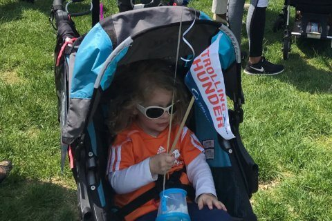 Strolling Thunder rally on Capitol Hill calls for paid leave, affordable child care