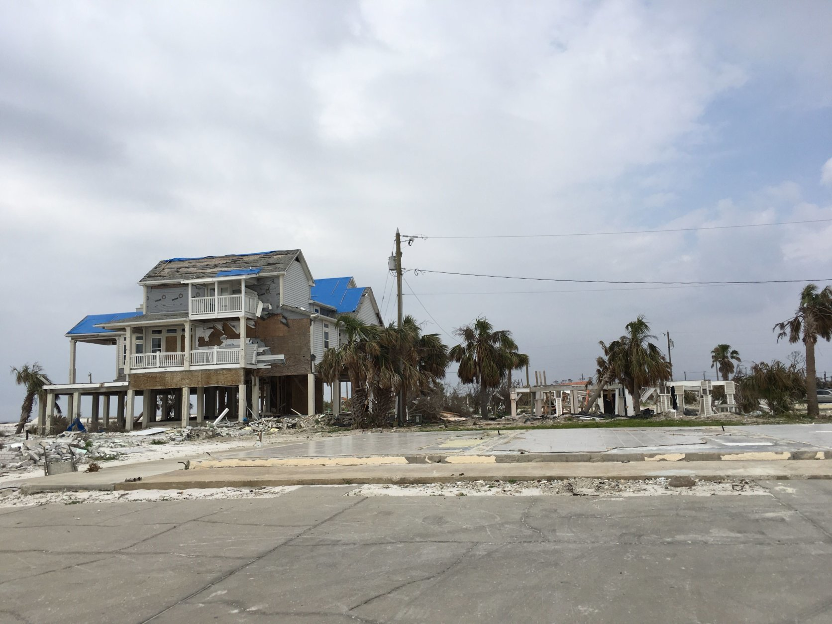 At Mexico Beach there are empty concrete pads where homes had once been. (WTOP/Joan Jones)