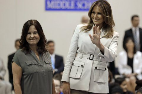 Melania Trump says she'll serve 4 more years as first lady
