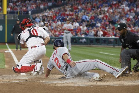 Soto's 3-run shot in 10th lifts Nationals over Phillies 10-6