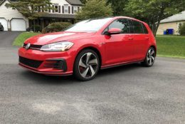 The Volkswagen Golf GTI Autobahn runs a pricey $36,000. (WTOP/Mike Parris)
