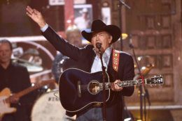 George Strait performs at the conclusion of the 54th annual Academy of Country Music Awards at the MGM Grand Garden Arena on Sunday, April 7, 2019, in Las Vegas. (Photo by Chris Pizzello/Invision/AP)