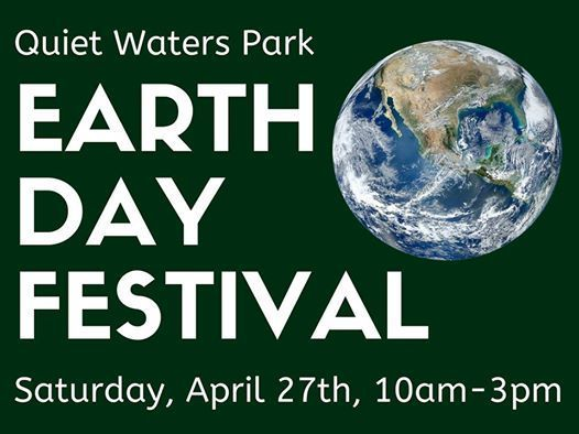 Event poster for the Quiet Water Park Earth Day Festival. (Courtesy Anne Arundel County Government)