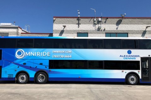 1st double-decker commuter bus rolling out onto DC-area roads