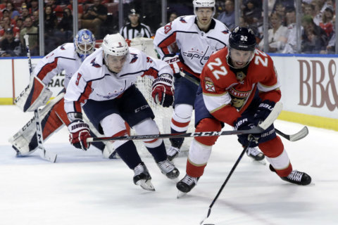 Capitals lose in furious comeback bid against Panthers