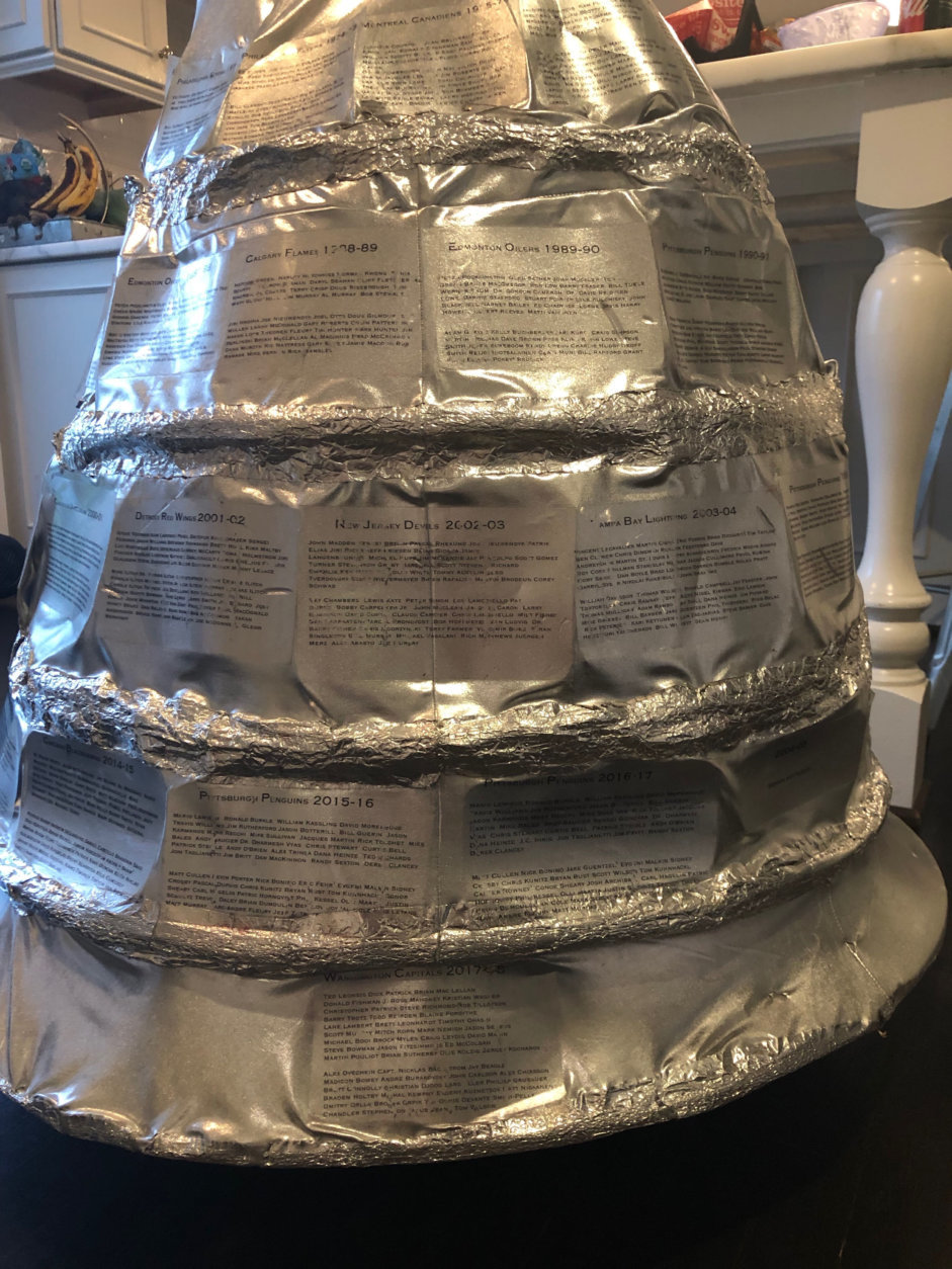 Kora Findler printed all the teams on the Stanley Cup. (Courtesy Kora Findler)