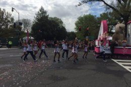 The cherry blossom parade was in D.C. Saturday, April 13, 2019. (WTOP/John Domen)