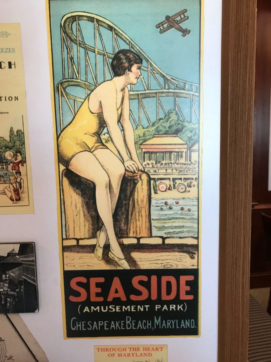 The anniversary event features items that tell the history of Chesapeake Beach, Maryland. (WTOP/Dick Uliano)