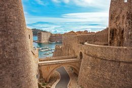 Old town and harbor of Dubrovnik Croatia