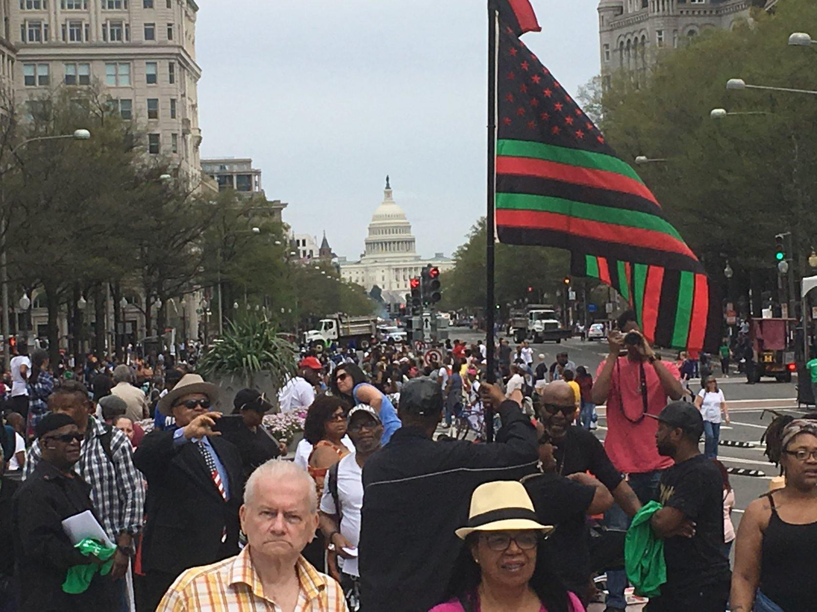 Hundreds attend the Emancipation Day Parade in D.C. on Saturday, April 13, 2019. (WTOP/Rick Massimo)