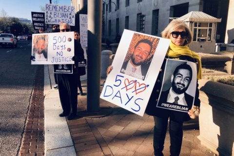 500 days after Park Police shooting, Bijan Ghaisar's family holds protest at DOJ