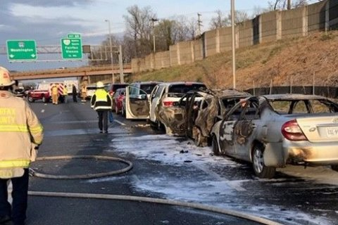 All lanes on eastbound I-66 in Va. open after chain-reaction crashes