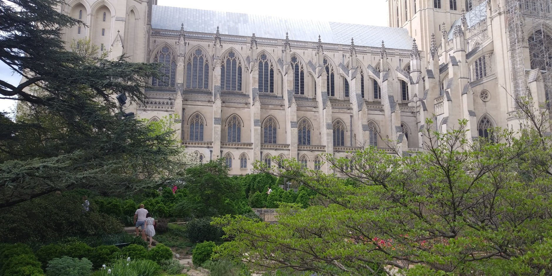 The Bishop's Garden at the Washington National Cathedral blooms in spring time. (WTOP/Abigail Constantino)