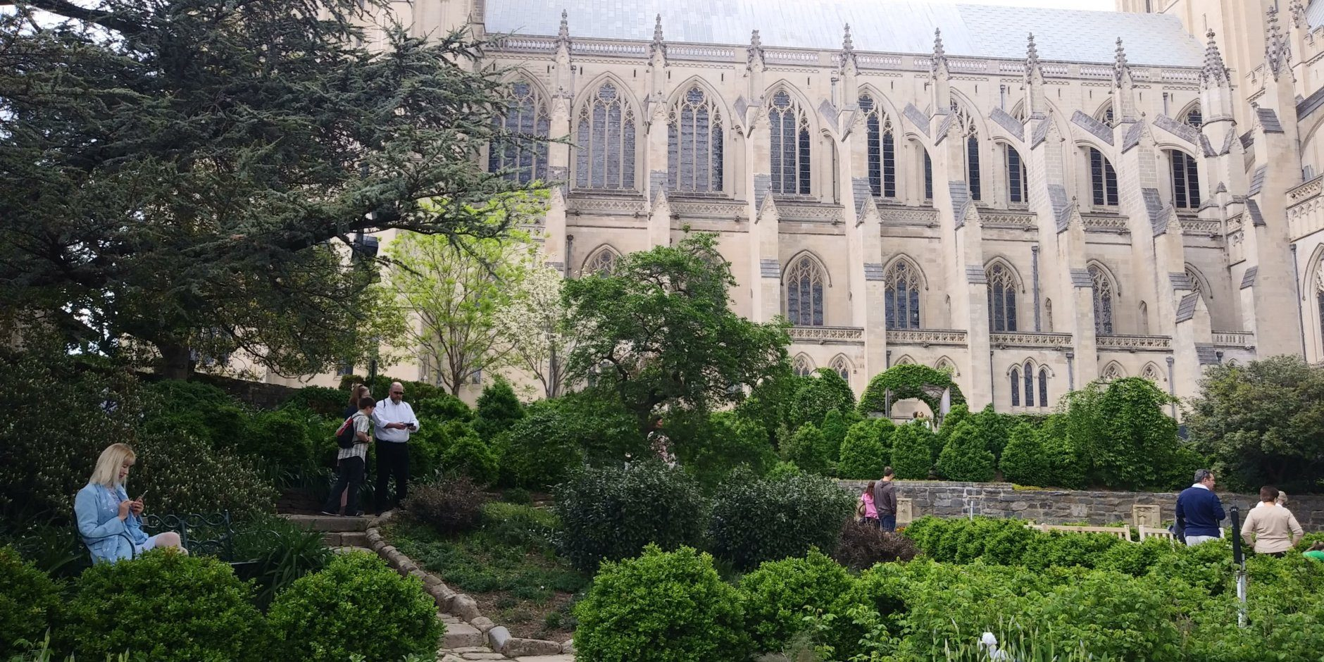 The Bishop's Garden at the Washington National Cathedral shows its spring blooms. (WTOP/Abigail Constantino)