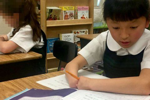 10-year-old Maryland girl born without hands wins national handwriting competition