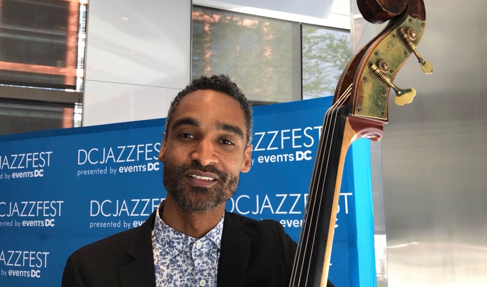 Kris Funn who heads jazz band Cornerstore said D.C.'s jazz festival is different from others he plays at. (WTOP/Kristi King)
