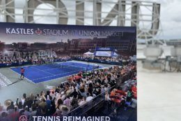 A tennis stadium that seats 700 will be the new home for the Washington Kastles starting this year. (WTOP/Noah Frank)
