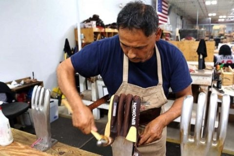 Texas leather company scores with baseball gloves that are made by hand in the US