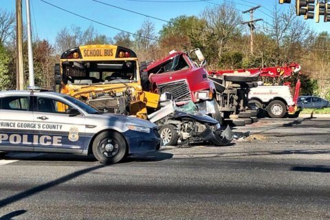1 dead, 2 teens hospitalized after crash involving Prince George's Co. school bus