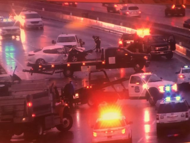 2 dead, 2 injured after 3-vehicle crash caused by wrong-way driver
