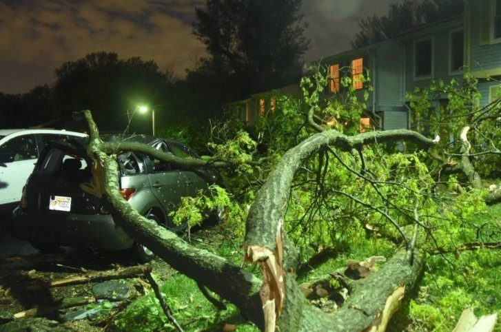 Westlake Legal Group tornadodave-727x482 Tornado causes damage near Reston, Va. Weather News Weather Virginia tornado The National Weather Service storm severe weather Local News Fairfax County, VA News damage