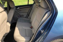 The backseat of the Golf SE is surprisingly roomy. (WTOP/Mike Parris)