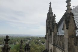 The Washington National Cathedral tolled its bells in support of Notre Dame. (WTOP/Mike Murillo)