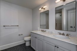 The Jack and Jill bathroom. (Courtesy Wydler Brothers)