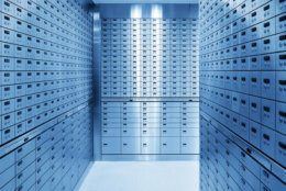 Safety Deposit Boxes in Safe Bank.