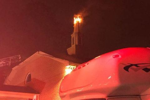 Blaze at Prince George's Co. church possibly started by lightning