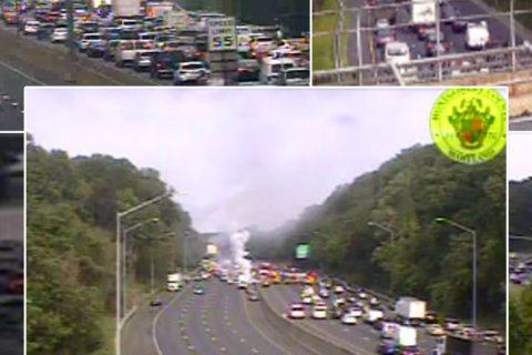 Delays remain after multivehicle crash disrupts Inner Loop in Montgomery Co.