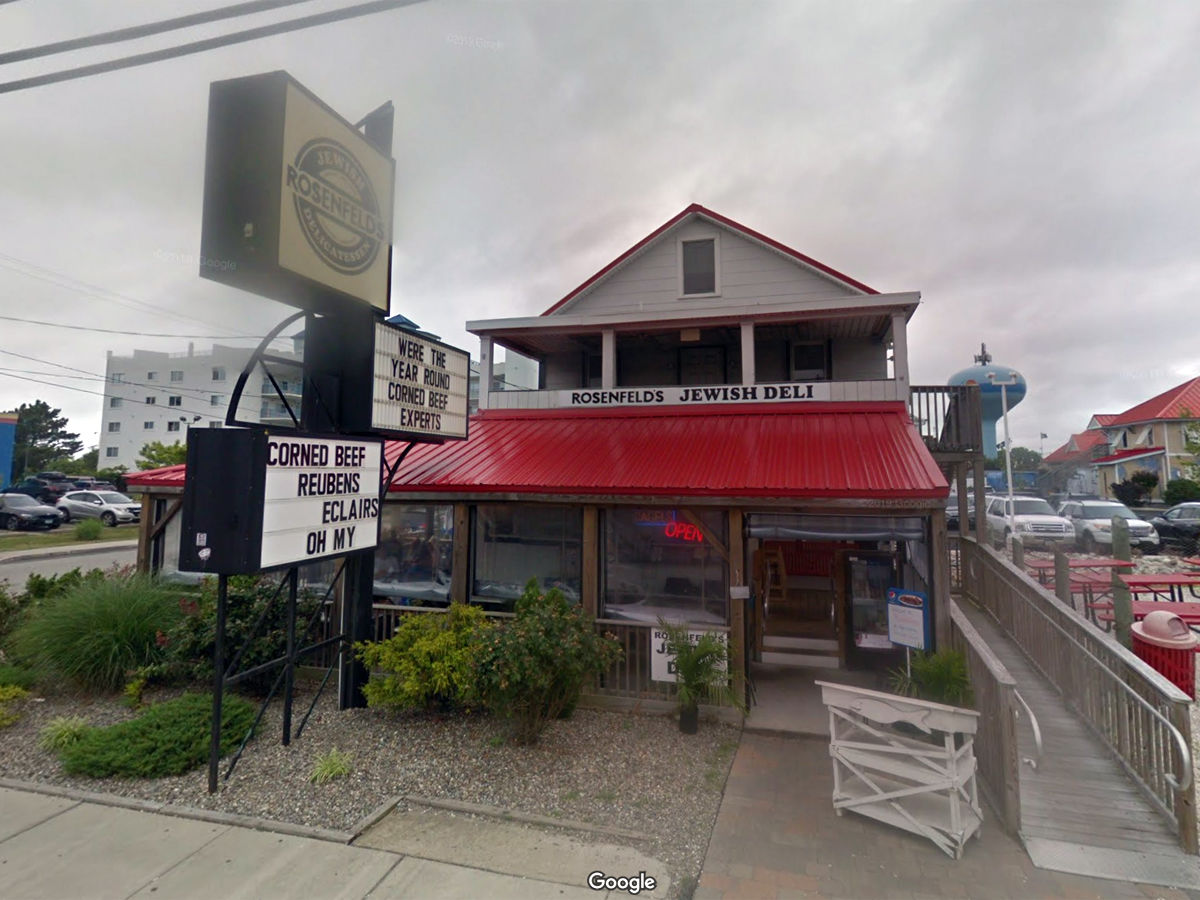 Rosenfeld's Jewish Delicatessen 6301 Coastal Hwy, Ocean City, Maryland(Google Street View)