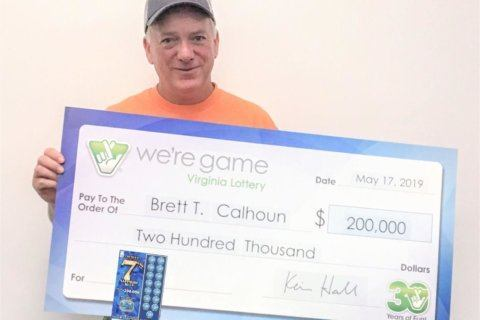 Reston landscaper wins $200,000 top prize in lottery scratcher