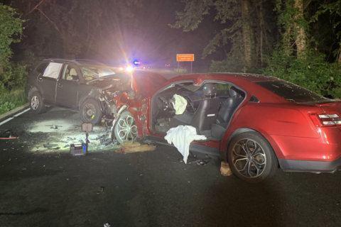 2 injured in Clara Barton Parkway head-on crash