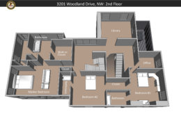 A layout of the second floor of 3201 Woodland Drive. The bodies of the adults were found in Bedroom 1. Philip's body was recovered from Bedroom 2. (Courtesy U.S. Attorney's Office for D.C.)