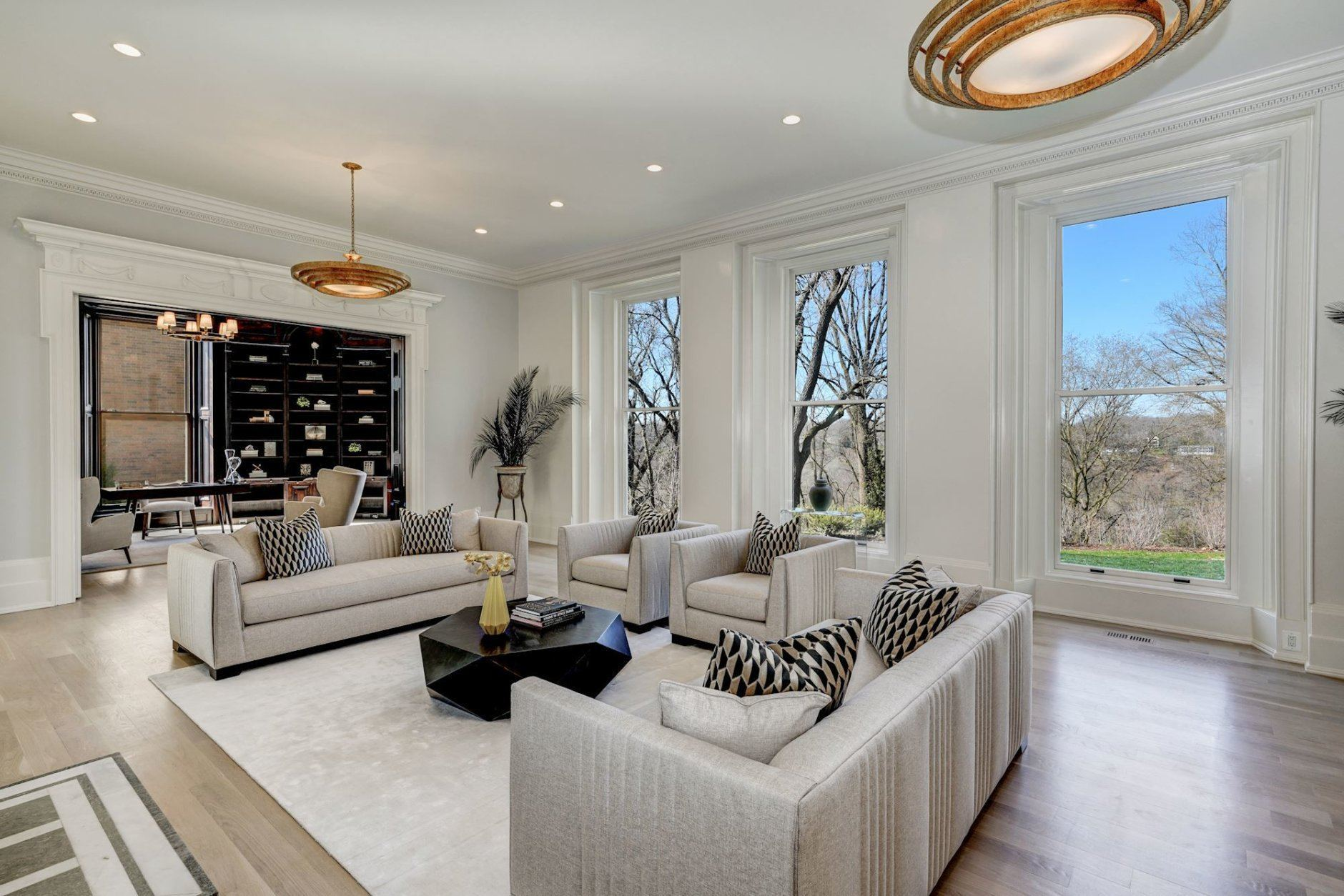 The living room. (Courtesy Cesar A Olivares for Wydler Brothers)