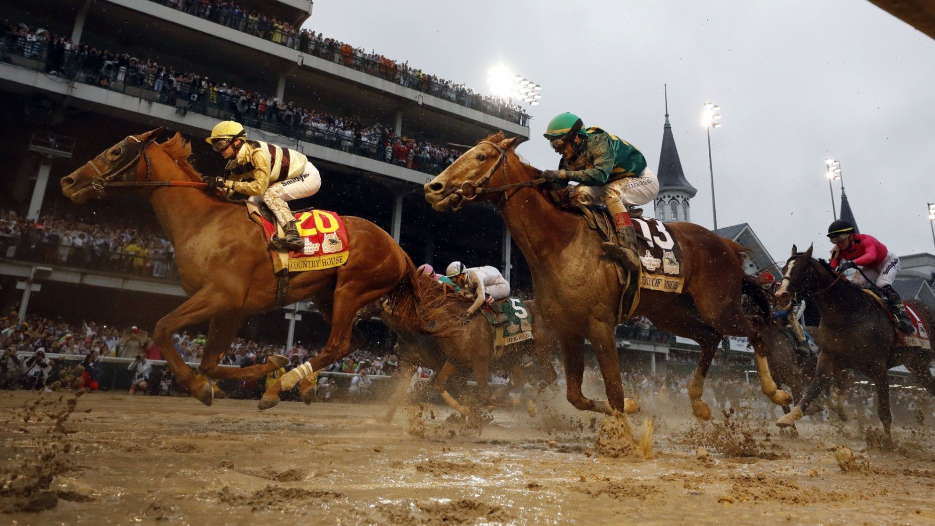 Flavien Prat rides Country House to victory during the 145th running of the Kentucky Derby horse race at Churchill Downs Saturday, May 4, 2019, in Louisville, Ky. Luis Saez on Maximum Security finished first but was disqualified. (AP Photo/Matt Slocum)
