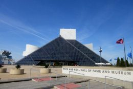 FILE – This April 24, 2016, file photo shows the Rock and Roll Hall of Fame and Museum, located on the shores of Lake Erie in downtown Cleveland. Architect I.M. Pei designed the museum's futuristic building. Cleveland is hosting the Republican National Convention from Monday through Thursday, July 18 to 21, 2016. (AP Photo/Beth J. Harpaz, File)