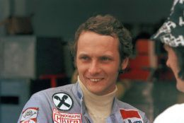 File - In this Jan. 12, 1975 file photo, Austrian auto racer Niki Lauda, pictured during the Argentine Grand Prix in Buenos Aires. Three-time Formula One world champion Niki Lauda has died at the age of 70. (AP Photo/E. Di Baia)