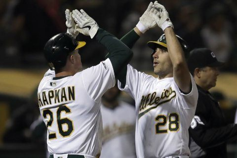 Ohtani's two-run single in the ninth lifts Angels past A's