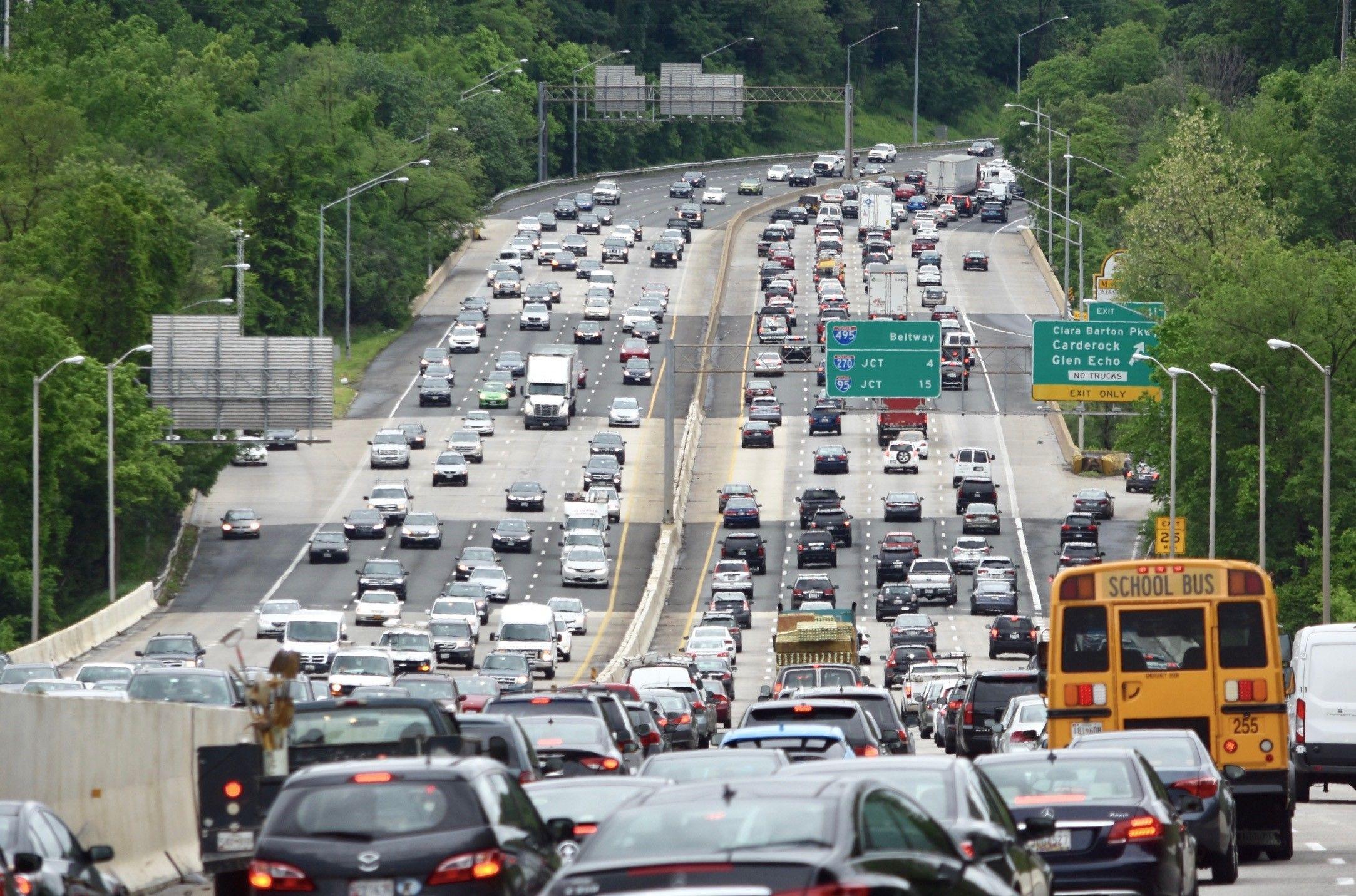 capital beltway I-495 legion bridge congestion traffic backup roads