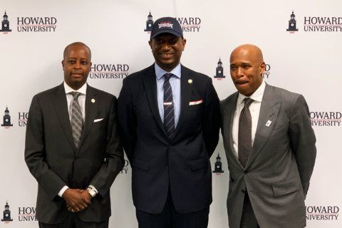 Howard introduces Blakeney as new basketball coach with expectations