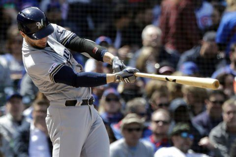 Brewers' Braun scratched against Cubs with sore hamstring