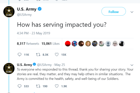 WATCH: Army tweet prompts painful replies from veterans