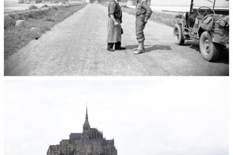 AP PHOTOS: D-Day's landscape in 1944 – and today